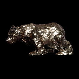 bear, bear made of bronze, bronze bear
