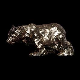 bear, bear made of bronze, bronze bear