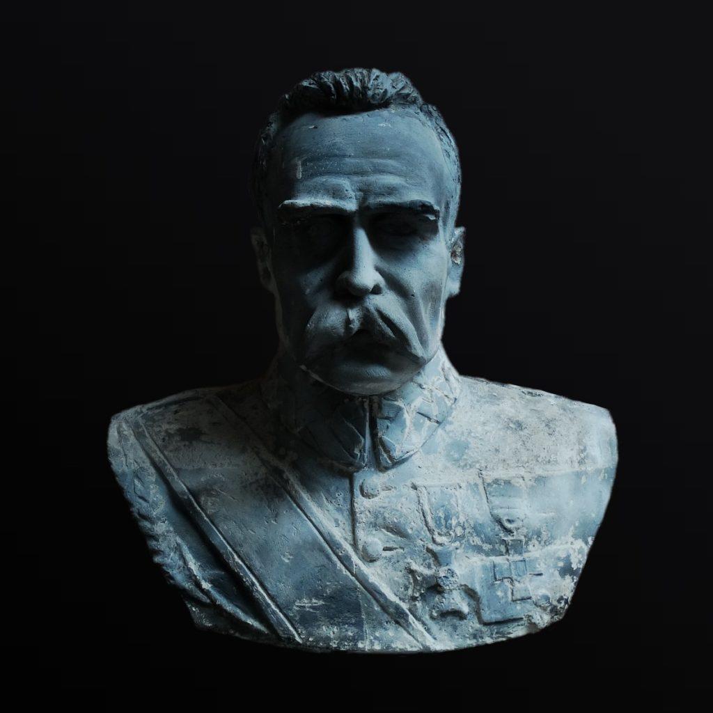 The bust of Marszałek Józef Piłsudski