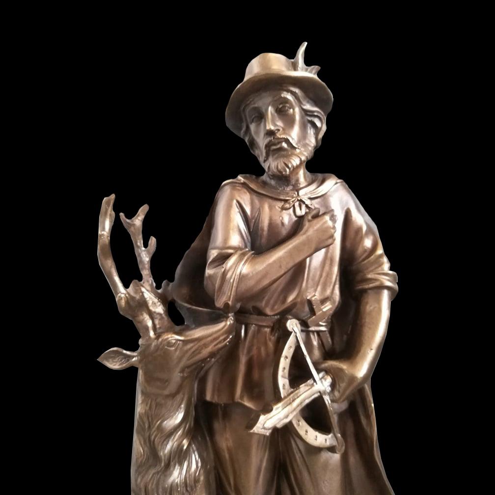 Statuetka św. Huberta odlewpatynowany
