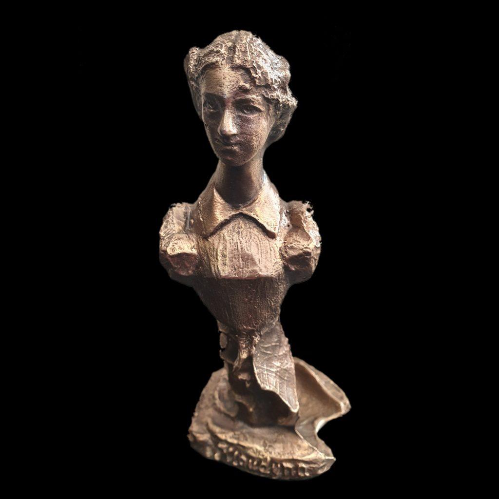 klaudyna statuetka z brązu